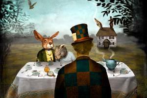 Allways Tea Time_Obra de Maggie Taylor_Colagem Digital 2008_EUA_