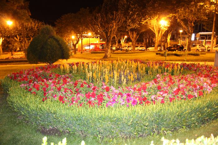 "banco de jardim poesia:Ay muito me tarda / O meu amigo na Guarda"""